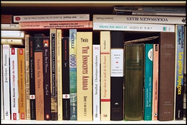 Une partie de ma bibliothèque : la bibliothèque du voyageur