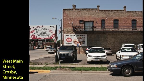 Rue principale ( Main Street ), Crosby, Minnessota -- 31 juillet 2011