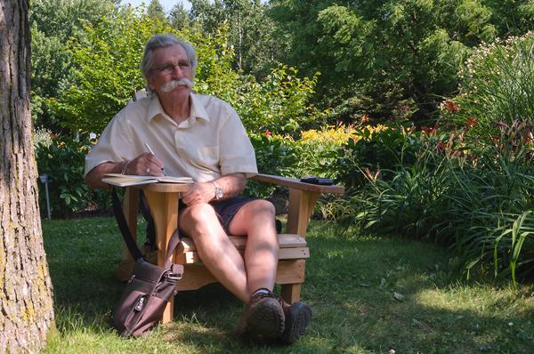 Autoportrait - Juillet 2014 Jardin botanique Montréal