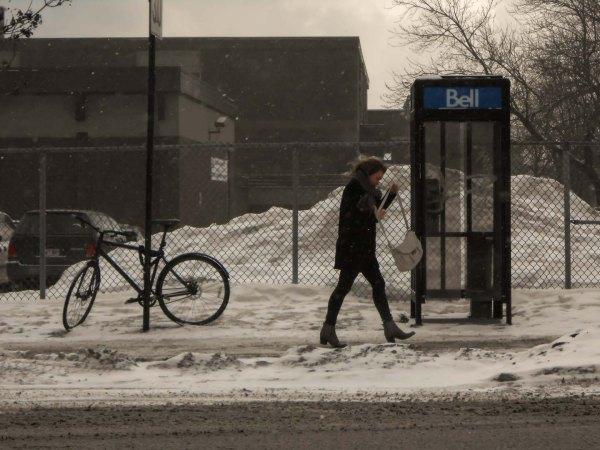 L'hiver dans l'arrondissement parisien de Montréal
