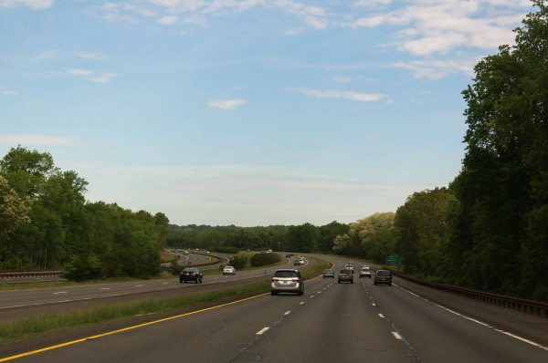 Vers New York, sur le Garden State Parkway, au New Jersey