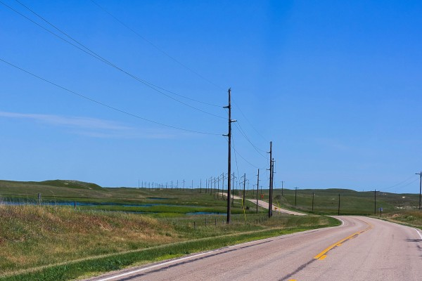 Traverser les Sandhills, au Nebraska, du sud vers le Nord,