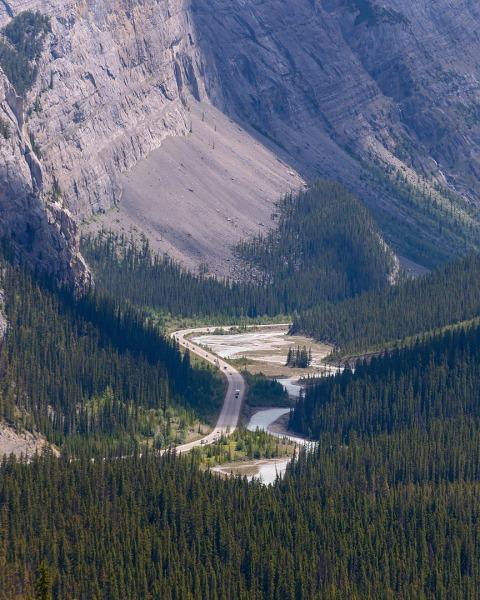 Route des champs de glace, Alberta