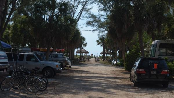 Le camping de Turtle Beach, Siesta Beach