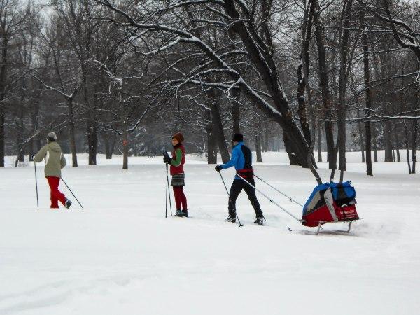 Belle journée pour le ski