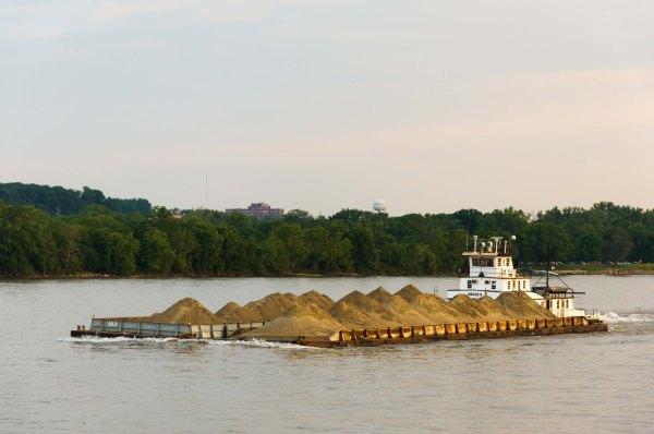 Le vocation commerciale du transport maritime est toujours très importante sur la rivière Ohio