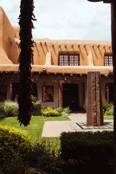 New Mexico Museum of Art - cour intérieure