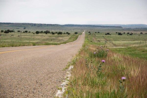 La route 350, entre La Junta et Trinidad au Colorado, se juxtapose, à bien des endroits, sur la Piste originale de Santa Fe.